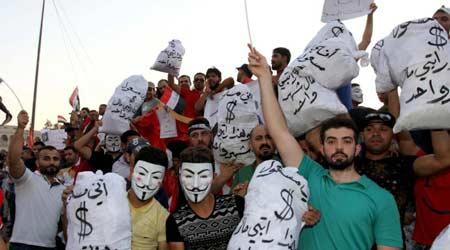 السخرية سلاح المتظاهرين في العراق