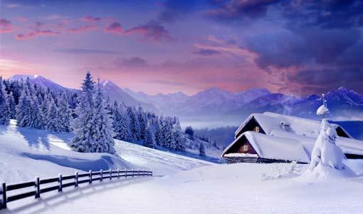ثلج آخر الشتاء