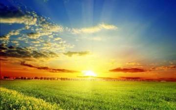 انتظار غروب الشمس