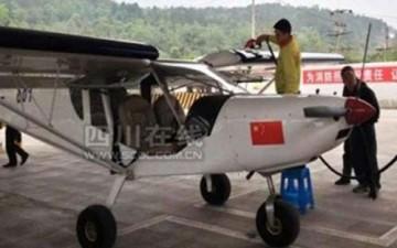 طائرة تهبط اضطرارياً وتتزود بالوقود من محطة سيارات